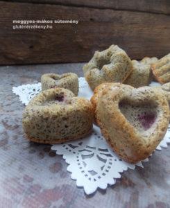 gluténmentes sütemény recept - meggyes-mákos