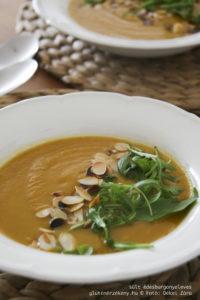 sült édesburgonyaleves gluténmentes leves recept