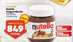 Nutella gluténmentes akció