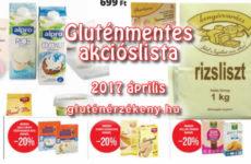 Gluténmentes termék akciók 2017 április