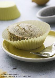 citromos mákos gluténmentes muffin