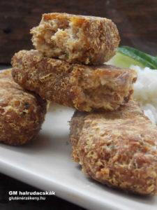 gluténmentes halrudacskák recept