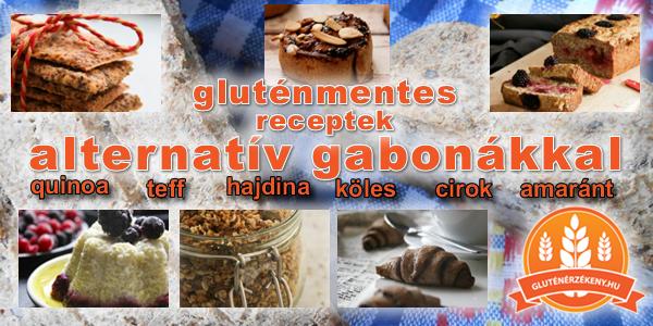 Receptek alternatív gabonafélékkel