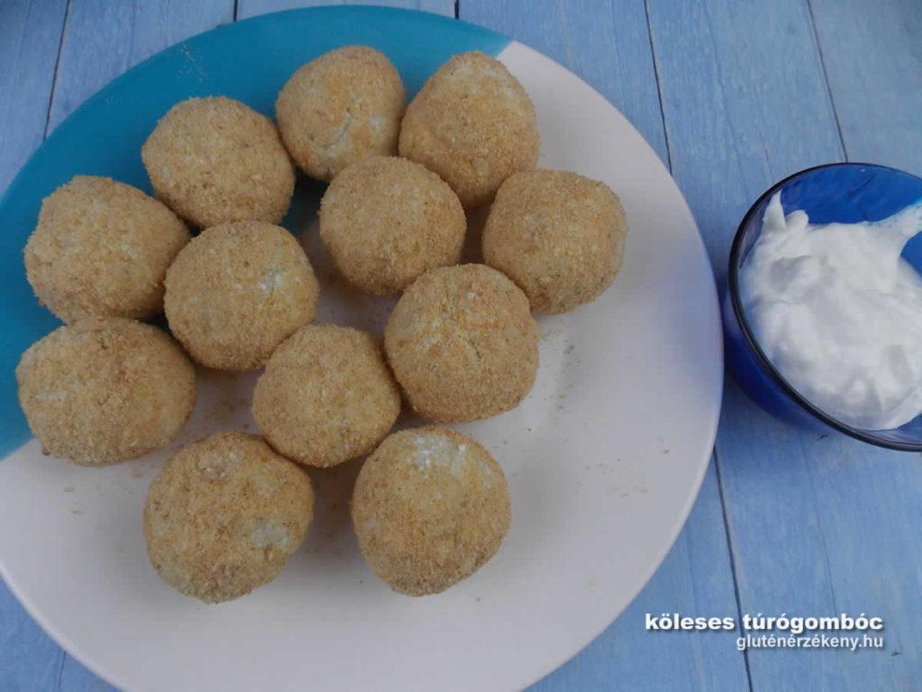 köleses túrógombóc recept, gluténmentes receptek