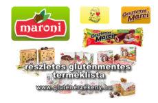 Maroni gesztenye alapú termékek gluténmentes terméklista - 2017.02.24