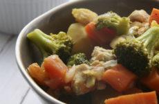 Currys pulykaragu párolt kölessel