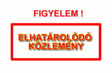 ELHATÁROLÓDÓ KÖZLEMÉNY