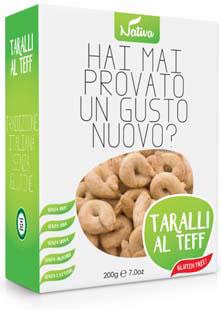 Taralli al Teff sós gluténmenteskarikák teff lisztből