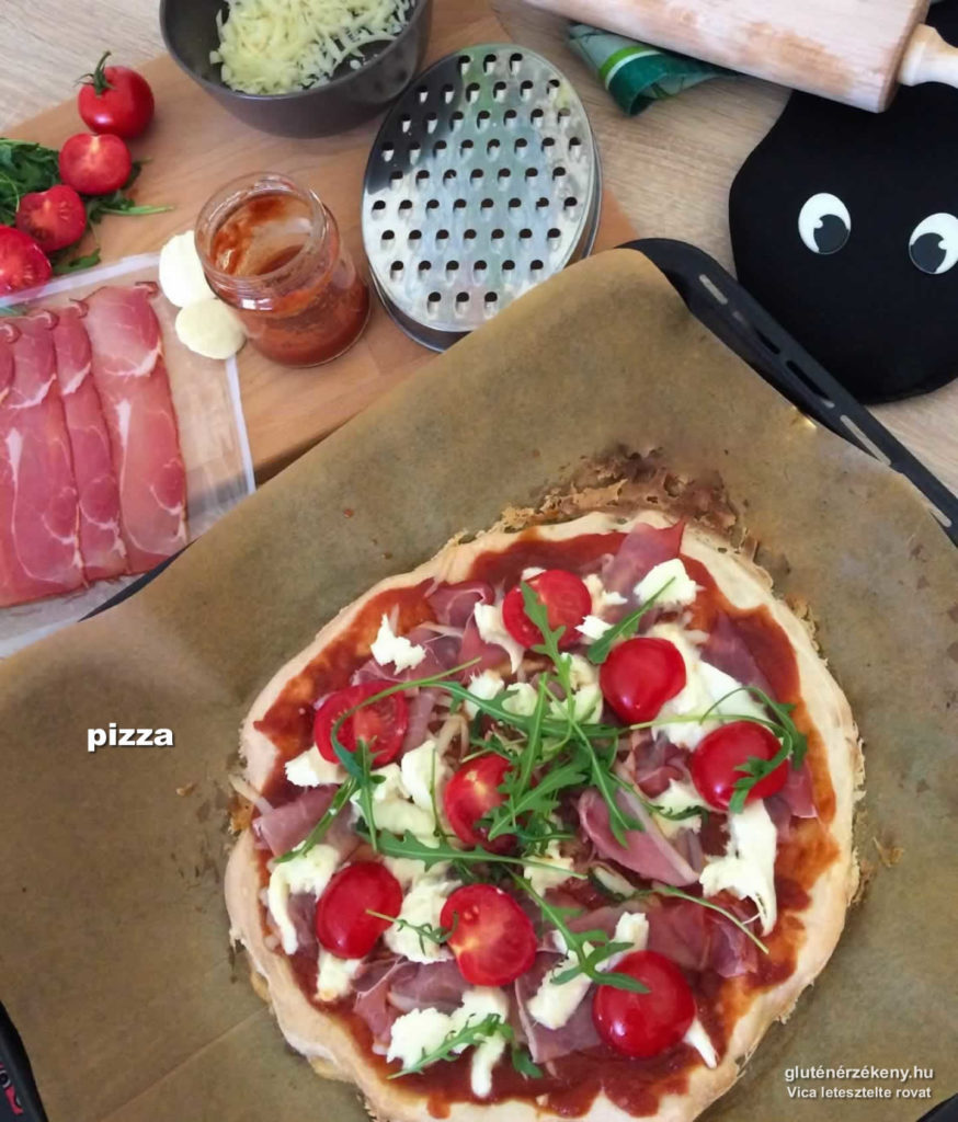aby gluténmentes pizza recept