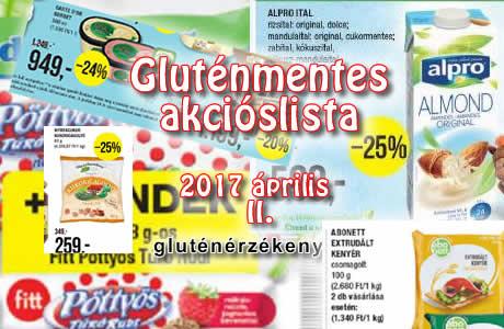 akciós gluténmentes termékek aprilis II