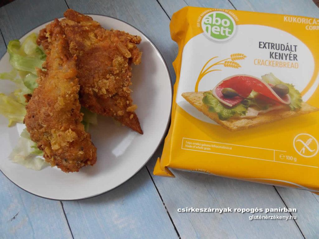 csirkeszárnyak ropogós gluténmentes panírban | gluténmentes rántott csirkeszárnyak
