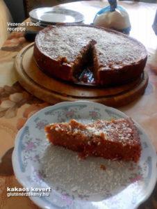 gluténmentes torta kakaós kevert recept