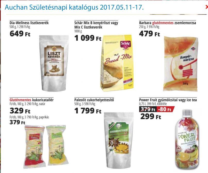 akciós gluténmentes élelmiszerek AUCHAN