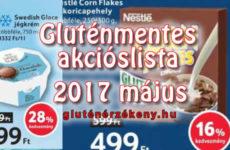 Akciós gluténmentes terméklista 2017 május