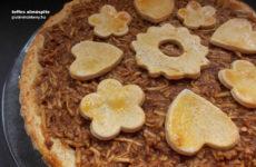 Teffes gluténmentes almáspite édesítőszerrel
