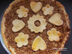 gluténmentes almás sütemény - teffes almáspite