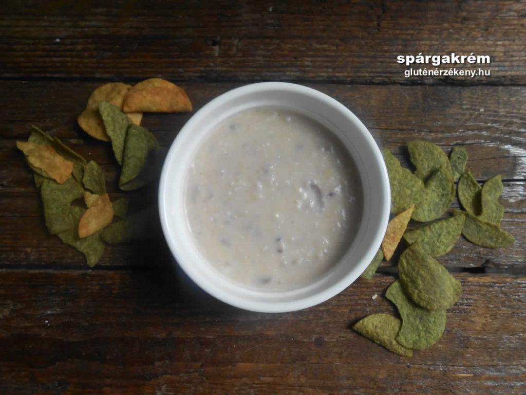 gluténmentes mártogató recept spárgakrém