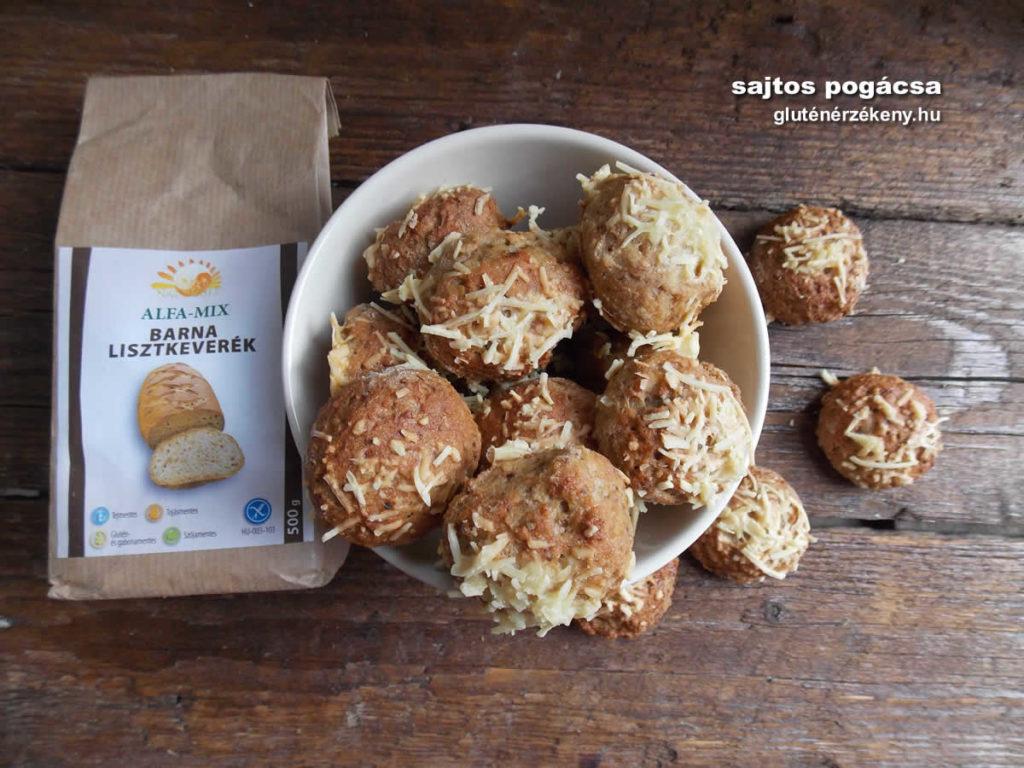gluténmentes pogácsa recept | glutenix barna gluténmentes lisztkeverék