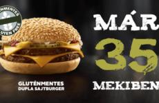 Már 35 hazai McDonald's étteremben lehet gluténmentes sajtburger rendelni