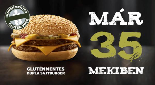 gluténmentes sajtburger már 35 mekiben