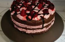 Éva málnás mascarponés gluténmentes torta receptje