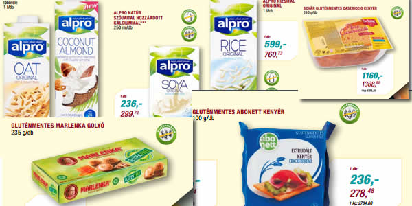 metro gluténmentes termék akciók