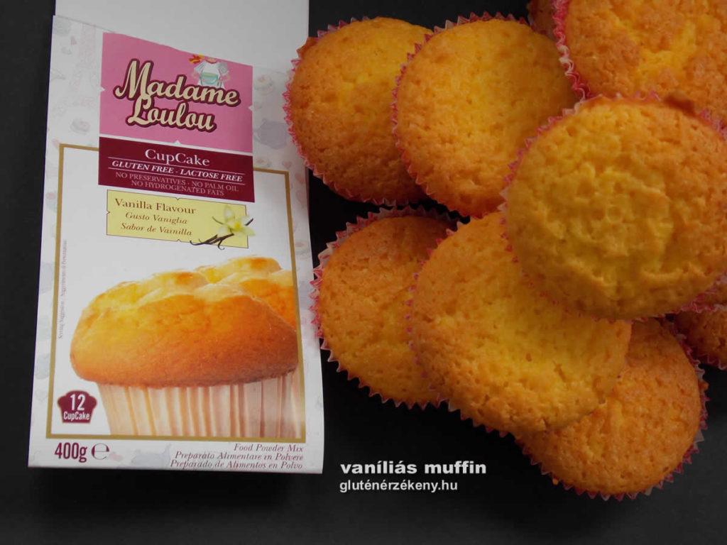 vaníliás gluténmentes muffin recept Madame Loulou