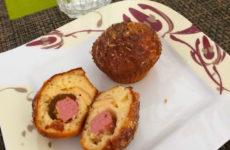 Virslis-füstölt sajtos gluténmentes muffin