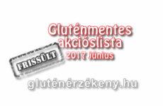 Akciós gluténmentes terméklista 2017 június