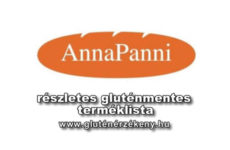 InnoTotal Kft. AnnaPanni gluténmentes terméklista - 2017.06.13.