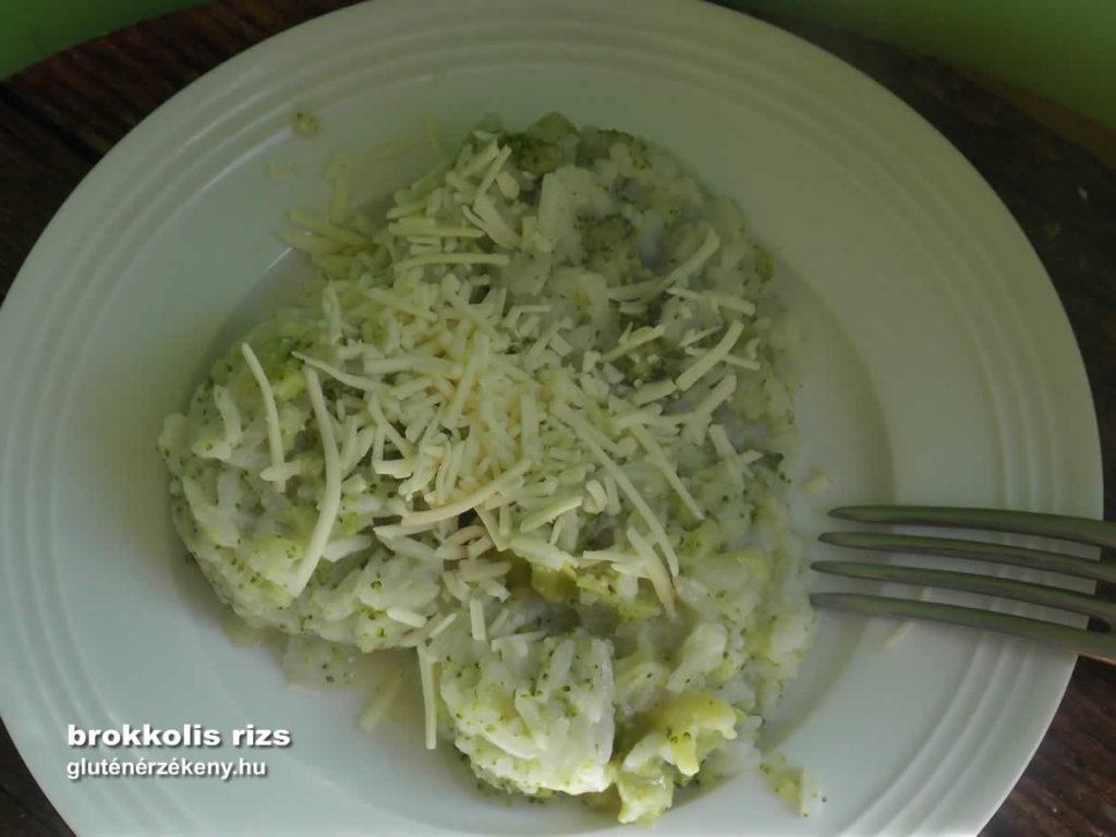 brokkolis rizs gluténmentes egytálétel recept