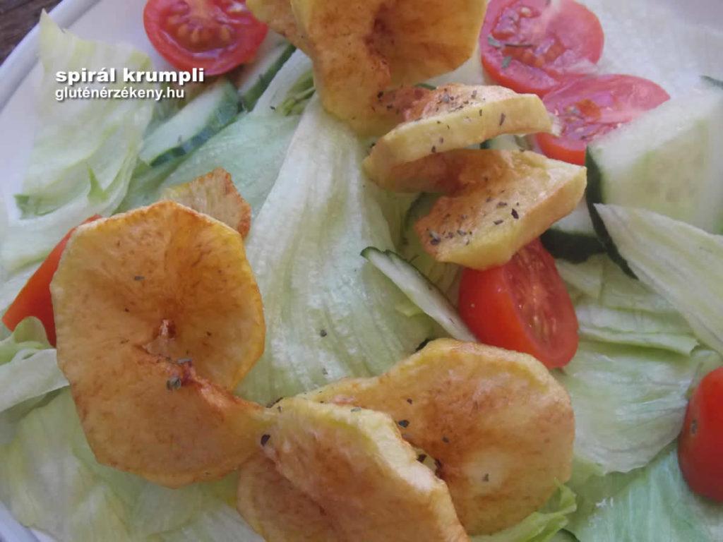 gluténmentes köret - spirál krumpli