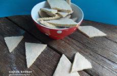 Gluténmentes kréker tejmentesen elkészítve