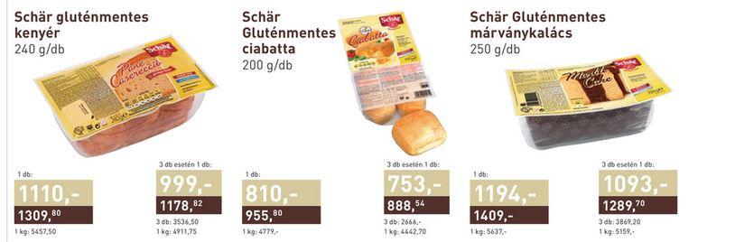 gluténmentes schär termékek akció metro 201707