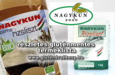 Nagykun 2000 Mg. Zrt. gluténmentes terméklista - 2017.06.02