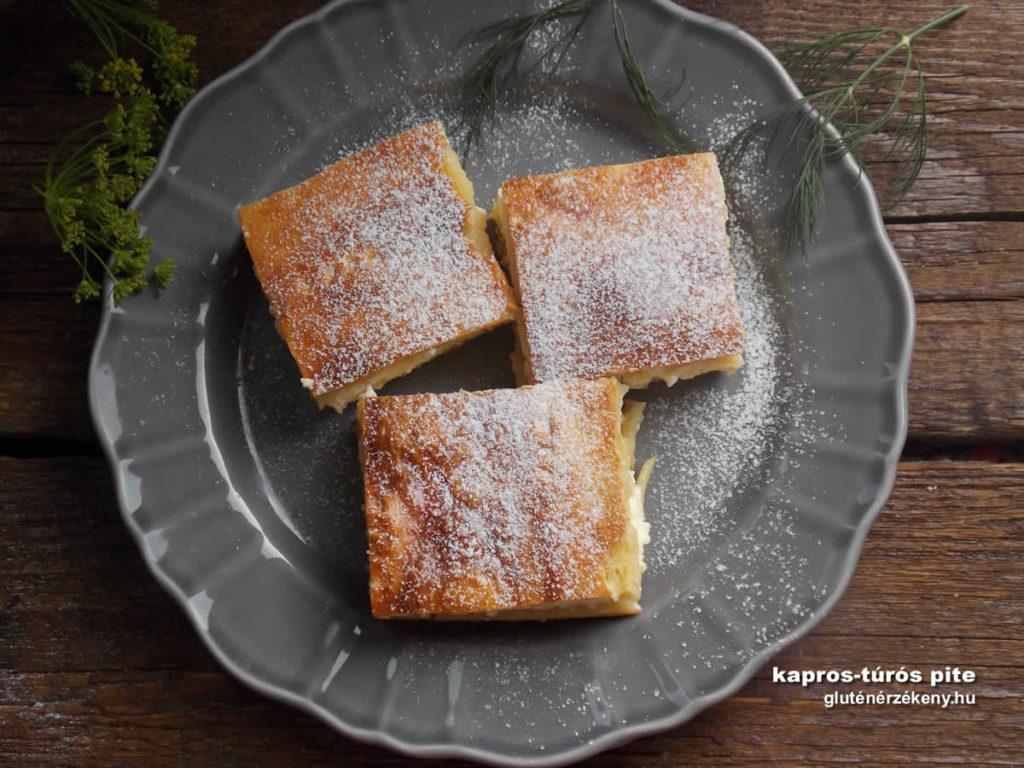 túrós gluténmentes pite recept