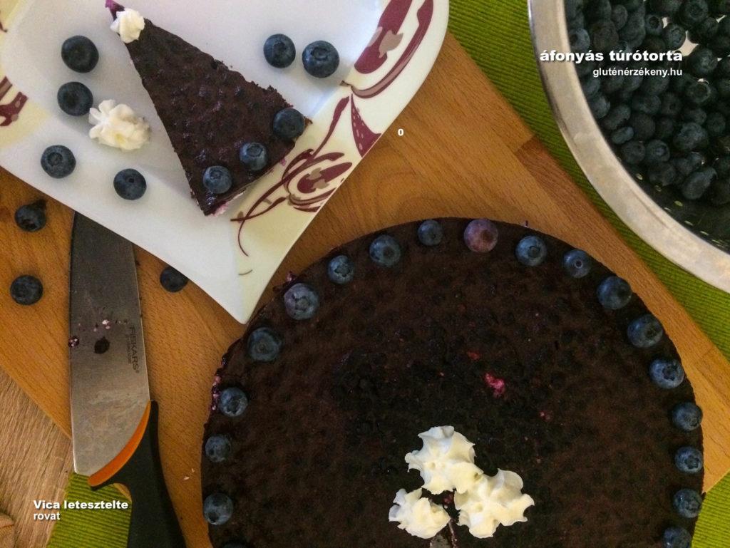 áfonyás túrótorta gluténmentes recept | gluténmentes sütemények, torták