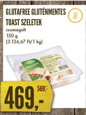 gluténmentes toast kenyér Glutafree Interspar