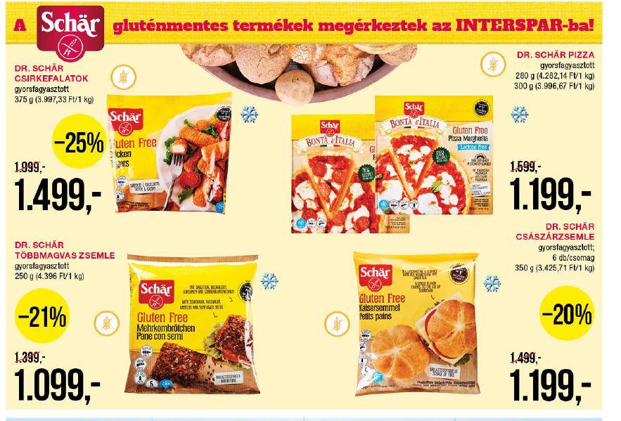 Schär gluténmentes gyorsfagyasztott termékek