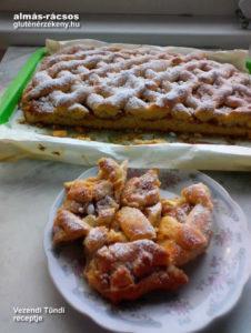 almás rácsos gluténmentes sütemény recept