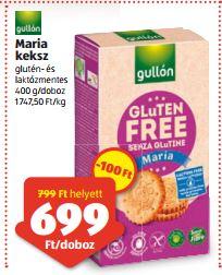 gluténmentes Mária keksz Gullon Aldi