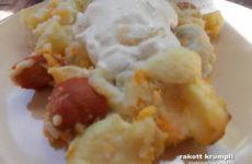 Vaslábasban sült rakott krumpli - tej- és gluténmentes egytálétel
