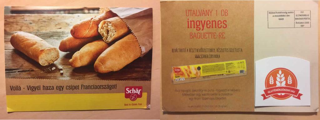 ingyenes Schär gluténmentes bagett termékminta