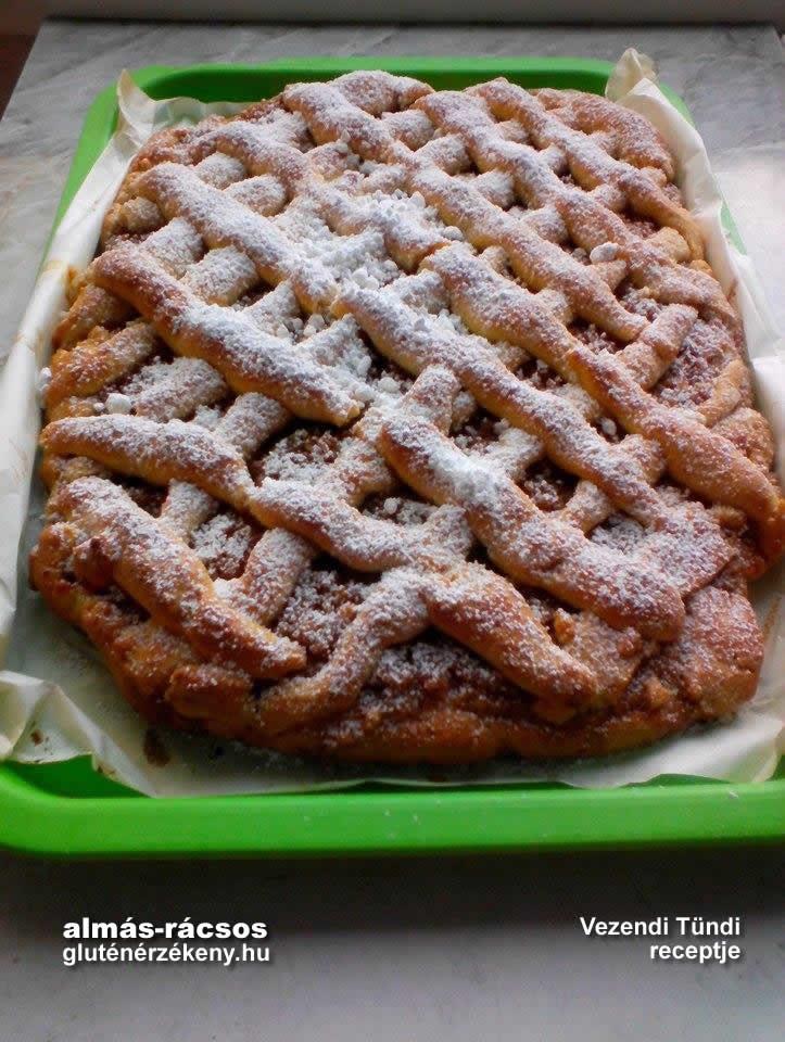 rácsos almás gluténmentes sütemény recept | gluténmentes süti receptek