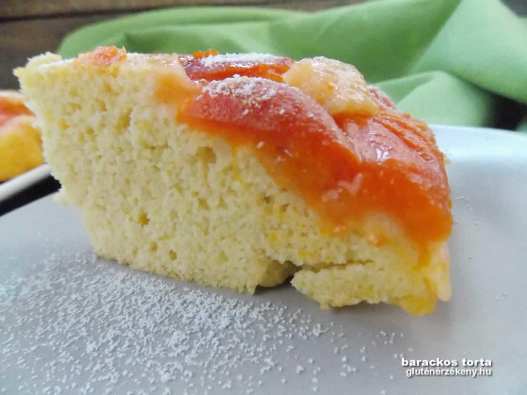 sárgabarackos gluténmentes torta recept