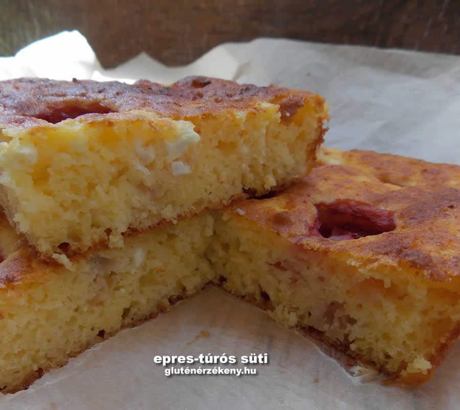 túrós gluténmentes sütemény recept