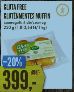 gluténmentes muffin akció Interspar
