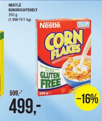 gluténmentes kukoricapehely akció, gluténmentes élelmiszerek a SPAR-ban
