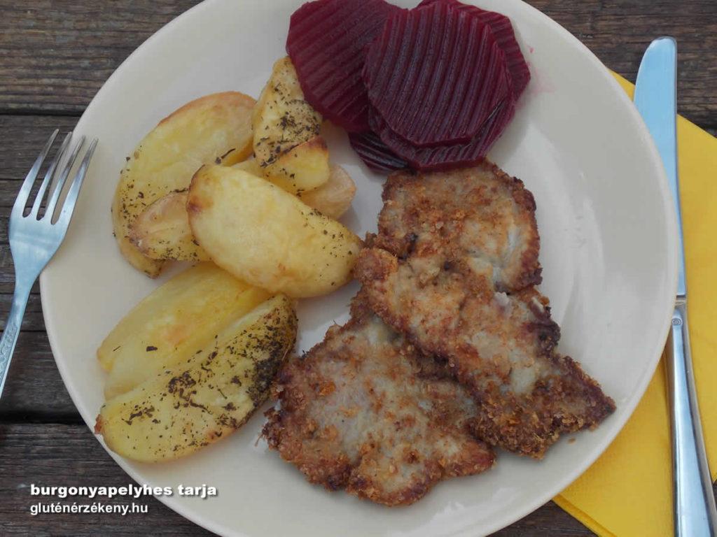 gluténmentes ebéd burgonyapelyhes tarja