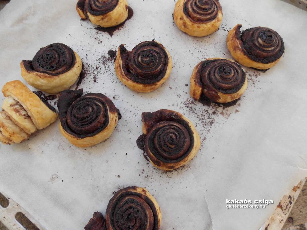 kakaós csiga gluténmentes recept | gluténmentes péksütemény